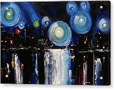 Chicago City Lights Acrylic Print by Skye Taylor