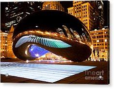 Chicago Cloud Gate Luminous Field Acrylic Print