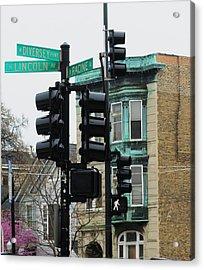 Chicago Corner Acrylic Print by Todd Sherlock