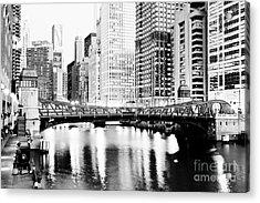 Chicago Downtown At Clark Street Bridge Acrylic Print by Paul Velgos