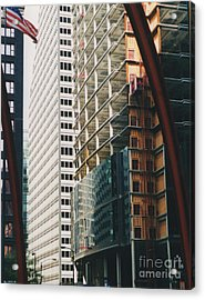 Chicago Geometry Acrylic Print by First Star Art