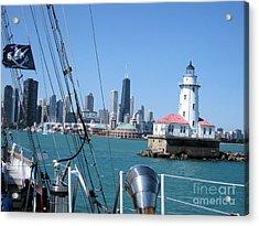 Chicago Harbor Lighthouse Acrylic Print by Sonia Flores Ruiz