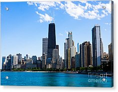 Chicago Lakefront With John Hancock Building Acrylic Print by Paul Velgos
