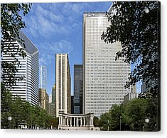 Chicago Millennium Monument And Fountain Acrylic Print