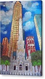 Chicago Old Water Tower Acrylic Print by Char Swift