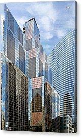 Chicago - One South Wacker And Hyatt Center Acrylic Print by Christine Till