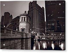 Chicago River Bridgehouse Acrylic Print by Steve Gadomski