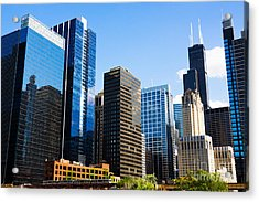 Chicago Skyline Downtown City Buildings Acrylic Print by Paul Velgos
