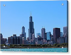 Acrylic Print featuring the photograph Chicago Skyline by Peter Ciro