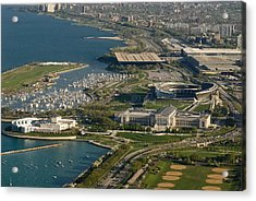 Chicagos Lakefront Museum Campus Acrylic Print by Steve Gadomski