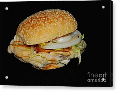 Acrylic Print featuring the photograph Chicken Sandwich by Cindy Manero