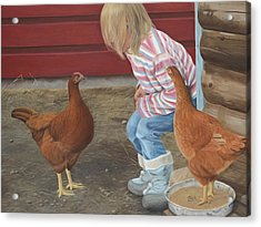 Chicken Talk Acrylic Print
