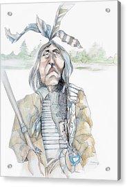 Chief And Blue Bird Acrylic Print by Shane Guinn