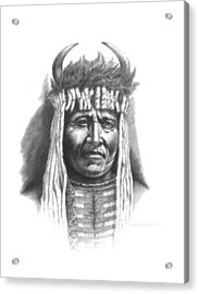 Chief Big Face Acrylic Print by Lee Updike