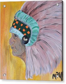 Acrylic Print featuring the painting Chief by Maria Urso