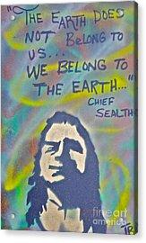 Chief Sealth Acrylic Print by Tony B Conscious