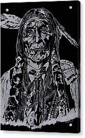 Chief Wolf Robe Acrylic Print by Jim Ross