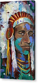 Chiefing Acrylic Print by Julia Pappas