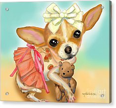 Chihuahua Princess Acrylic Print