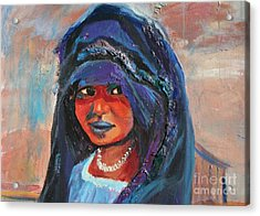 Child Bride Of The Sahara - Close Up Acrylic Print