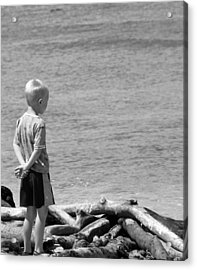 Acrylic Print featuring the photograph Child In Thought by Elizabeth  Doran