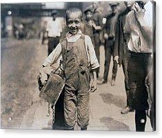 Child Labor, Bootblack Near Trinity Acrylic Print by Everett