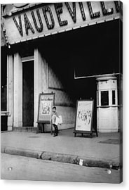Child Labor In Front Of A Movie Acrylic Print by Everett
