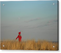 Child On The Dunes Acrylic Print by Joe  Burns