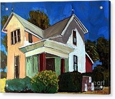 Childhood Home Plein Air Acrylic Print by Charlie Spear