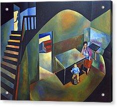 Childhood House Acrylic Print by Fernando Alvarez