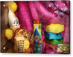 Children - Toy - Earliest Childhood Memories Acrylic Print by Mike Savad