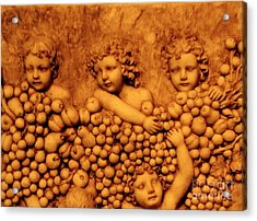 Acrylic Print featuring the photograph Children Among The Grapes by Annie Zeno