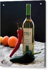Chilis Wine And Citrus Acrylic Print
