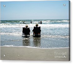 Chillin' Acrylic Print by Bob and Nancy Kendrick