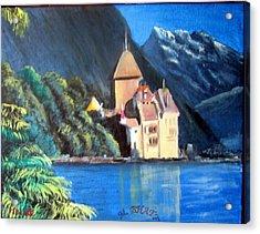Chillon Castle Acrylic Print by M Bhatt