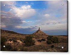 Chimney Rock On The Oregon Trail Acrylic Print by Edward Peterson