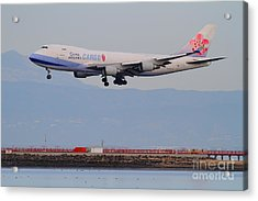 China Airlines Cargo Jet Airplane At San Francisco International Airport Sfo . 7d12299 Acrylic Print by Wingsdomain Art and Photography