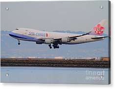 China Airlines Cargo Jet Airplane At San Francisco International Airport Sfo . 7d12301 Acrylic Print by Wingsdomain Art and Photography