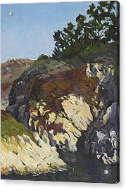 China Cove Cliffs Acrylic Print by Marian Fortunati