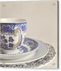 China Cup And Plates Acrylic Print by Lyn Randle