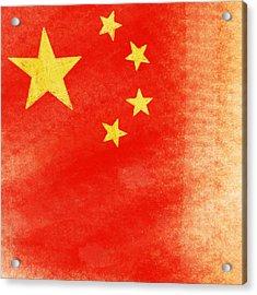 China Flag Acrylic Print by Setsiri Silapasuwanchai