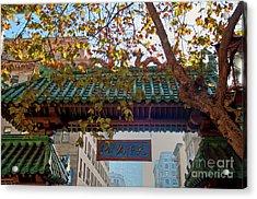 China Town San Francisco Acrylic Print by Loriannah Hespe