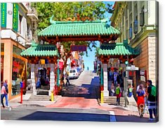 Chinatown Gate In San Francisco . 7d7139 Acrylic Print by Wingsdomain Art and Photography