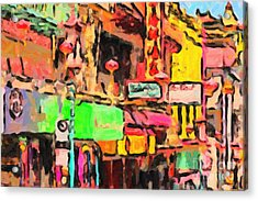 Chinatown In Abstract Acrylic Print by Wingsdomain Art and Photography