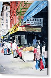 Acrylic Print featuring the painting Chinatown Number One by Tom Riggs