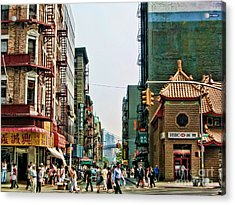 Chinatown-nyc Acrylic Print by Anne Ferguson