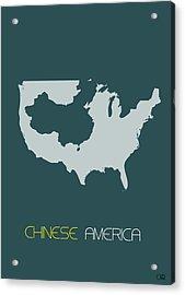 Chinese America Poster Acrylic Print