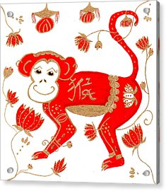 Chinese Astrology Monkey Acrylic Print