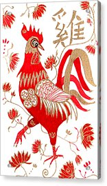Chinese Astrology Rooster Acrylic Print