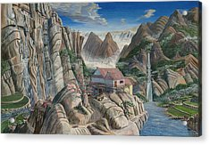 Chinese Dreamscape Acrylic Print by Anthony Lyon
